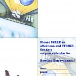 Printable Bowling Foldable Invitation 1