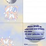 Printable Bowling Foldable Invitation 2