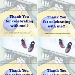 Printable Bowling Foldable Thank You Cards 1