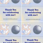 Printable Bowling Foldable Thank You Cards 2