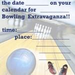 Printable Bowling A5 Invitation 1