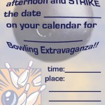 Printable Bowling A5 Invitation 2