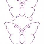 Medium Printable Butterfly 2 Decorations