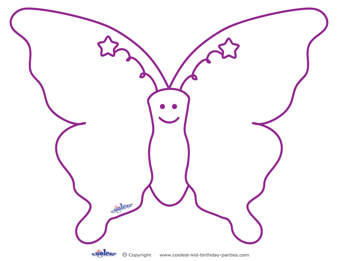 It is an image of Butterfly Cut Out Printable for color