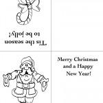 Printable Candy Cane / Santa 1 Christmas Greeting Card
