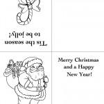 Printable Candy Cane / Santa 2 Christmas Greeting Card