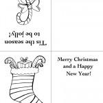 Printable Candy Cane / Stocking Christmas Greeting Card