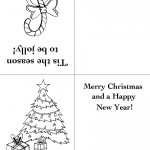 Printable Candy Cane / Tree Christmas Greeting Card