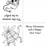 Printable Elf / Bells Christmas Greeting Card