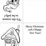 Printable Elf / House Christmas Greeting Card