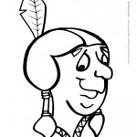 Printable B&W Indian Face 2