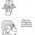 Printable B&W Pilgrim 1 / Turkey 1 Greeting Card