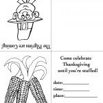 Printable B&W Pilgrim 1 / Wild Corn Invitation