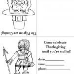 Printable B&W Pilgrim 2 / Indian Invitation