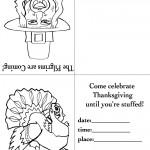 Printable B&W Pilgrim 2 / Turkey 1 Invitation
