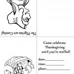 Printable B&W Pilgrim 3 / Cornucopia Invitation
