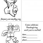 Printable B&W Pilgrim 3 / Pilgrim Invitation