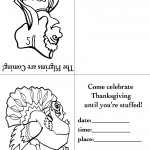 Printable B&W Pilgrim 3 / Turkey 1 Invitation