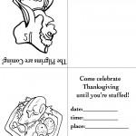 Printable B&W Pilgrim 3 / Turkey 2 Invitation