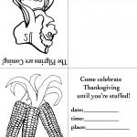 Printable B&W Pilgrim 3 / Wild Corn Invitation