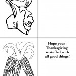 Printable B&W Pilgrim 3 / Wild Corn Greeting Card