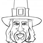 Printable B&W Pilgrim Face 2
