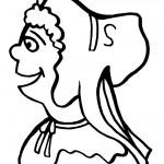 Printable B&W Pilgrim Face 3