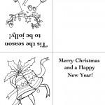 Printable Reindeer / Bells Christmas Greeting Card