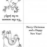 Printable Reindeer / Sleigh Christmas Greeting Card