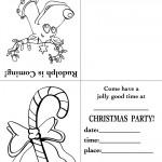 Printable Rudolph / Candy Cane Christmas Invitation
