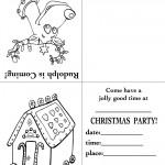 Printable Rudolph / House Christmas Invitation