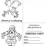Printable Rudolph / Santa Christmas Invitation
