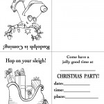 Printable Rudolph / Sleigh Christmas Invitation