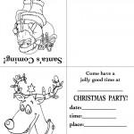 Printable Santa / Reindeer Christmas Invitation