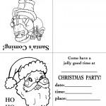 Printable Santa Face Christmas Invitation
