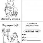 Printable Santa / Sleigh Christmas Invitation