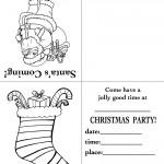 Printable Santa / Stocking Christmas Invitation
