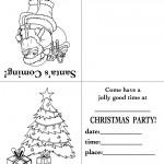 Printable Santa / Tree Christmas Invitation