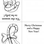 Printable Santa Face / Candy Cane Christmas Greeting Card