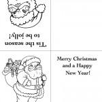 Printable Santa Christmas Greeting Card