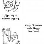 Printable Santa Face / Sleigh Christmas Greeting Card