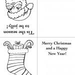 Printable Santa Face / Stocking Christmas Greeting Card