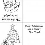 Printable Santa Face / Tree Christmas Greeting Card