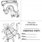 Printable Sleigh / Bells Christmas Invitation