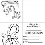 Printable Sleigh / Candy Cane Christmas Invitation