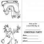 Printable Sleigh / Reindeer Christmas Invitation