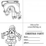 Printable Sleigh / Santa 1 Christmas Invitation