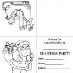 Printable Sleigh / Santa 2 Christmas Invitation