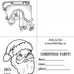 Printable Sleigh / Santa Face Christmas Invitation
