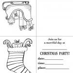 Printable Sleigh / Stocking Christmas Invitation